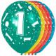 1 Year Birthday Balloons - 5 pieces