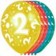 2 años de globos de cumpleaños - 5 piezas