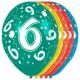 6 Años cumpleaños hincha 5 piezas