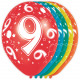 9 Year Birthday Balloons 5 pieces