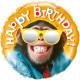 Happy Birthday Chimp Foil Balloon 46cm