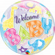 Welcome Baby Bubbles Balloon 56cm
