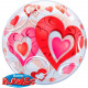 Transparent Heart Balloon Bubbles 56cm