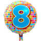 8 years Birthday Blocks foil balloon - 43 cm