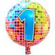 1 jaar Birthday Blocks folieballon - 43 cm