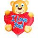 Mini figure balloon Bear with Heart