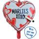 Writable Heart Foil Balloon 46 cm