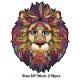Fa puzzle - mozaik - oroszlán