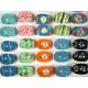 Pierścienie z kolorowymi motywami 17 mm, 18 mm, 19