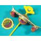 Finger skateboard with gyro