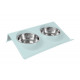 Double dog bowl food bowl cat dogs stainless steel