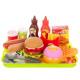 Fast food set kitchen toy set with tablet children