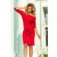 Ein sportliches Kleid aus Viskose - Rot