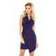 153-3 Wide collar dress - GRANATOWA