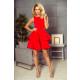 169-1 CRISTINA dress flared - RED
