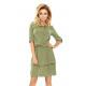 182-1 TINA Dress with a double skirt