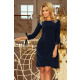 195-5 ALICE Dress with bows - NAVY