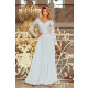 214-2 MADLEN long dress with lace neckline