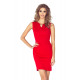 MM 005-1 Elegant dress with a buckle - RED