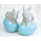 Bunny design on shiny egg XXL 14x9x8cm