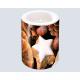 Gyertya LUXUS 8x7,5cm fahéj és narancs motívum,