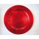 Kerstmis Plate XXL Red 33x33x1,8cm metallis