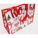 Karácsonyi vásárló XL 40x34cm fényes, műanyag