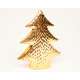 Dolomit-karácsonyfa 12x10x4cm arany krómozott