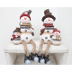 Edge seat snowman 21x9cm with baby snow with