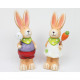 Rabbit XL with carrot or egg on feather 16x6cm