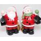 LED kerstman en sneeuwpop met XXL 19x10x8cm