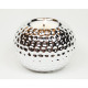 Tealight holder XL 9x7cm silver and gold chrome