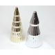 Karácsonyfa króm 13x6cm, ezüst és arany