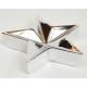 XL csillag ezüst vagy aranyozott 14x14x 3,5cm