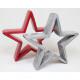 XL csillag 15x15x3cm a Dolomeit-tól szürke és piro