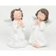 Imádkozó angyal fehér 10x5x5cm, műanyagból