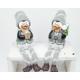 Szélső ülés Penguin grey XL 21x8x7cm, kerámia