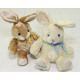 Doux lapin câlin XL 20x15x13cm avec noeud