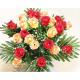 Rosenstrauß mit 24 Köpfen und großen Blättern