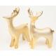 Porcelán jávorszarvas XL 12,5x10cm arany, matt