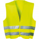Neon warning vest for the car according to standar