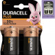 Batterij Duracell Plus Alkaline Mono 2er MN1300