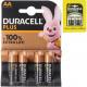 Batterij Duracell Plus Alkaline AA 4p