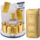 Feuerzeug elektrisch Metall Goldbarren im Display