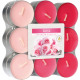Tealight fragrance 18er rose in block pack