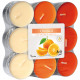 Tealight fragrance 18er orange in blockpack with