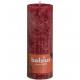 RUSTIK pillér gyertya 190x68 antik vörös