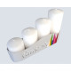 Stumpenkerzen 4er Set 4 sizes assorted white