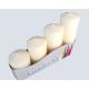 Stumpkernzen 4er Set 4 sizes assorted cream