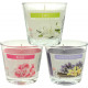 Aroma candle in glass, 130gr wax, assorted